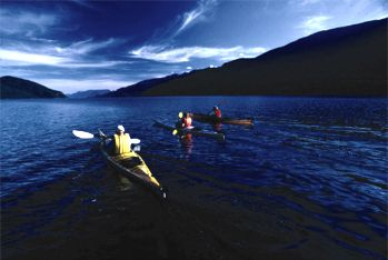 Kayaking on Kootenay Lake - photo by David Gluns