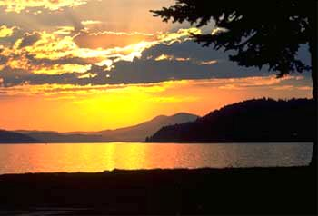 Sunset on Lake Pend Oreille, Sandpoint, Idaho
